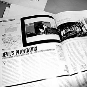 Apps magazine's two page feature on The Devil's Plantation app.