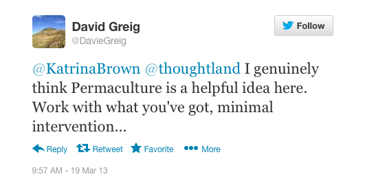 David Greig's tweet